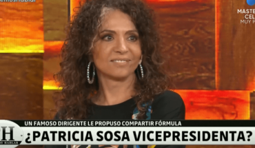 "Patricia Sosa: ""A governor offered me a million and a half dollars to be vice president"""