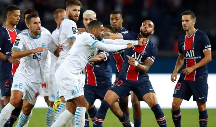 Scandal in the classic that Olympique de Marseille beat the PSG: trumpets and five expelled