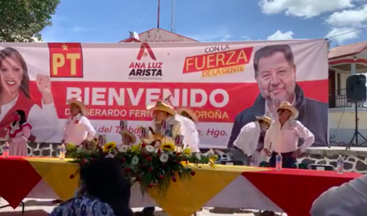 They throw eggs at Noroña in Hidalgo; holds governor accountable