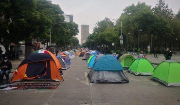 This is how Frena's camp on Avenida Juarez dawned