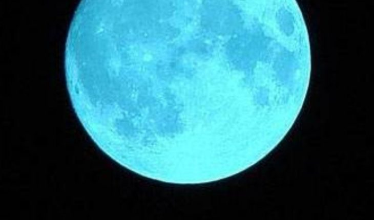What is the rare blue moon that can be seen on Halloween?