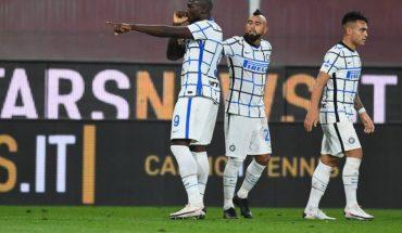 Arturo Vidal fue titular y punto alto en triunfo del Inter sobre Genoa