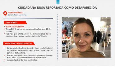 Buscan a Elena Tolstobrova, mujer rusa con reporte de desaparición en Jalisco