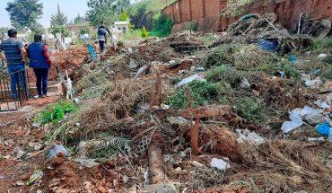 Denuncian falta de servicio de recolección de basura en Panteón municipal del Cristo en Pátzcuaro