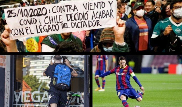 El plebiscito en Chile, explicado; CABA autoriza nuevas actividades; semana cargada de fútbol; cumpleaños Evo Morales y más...