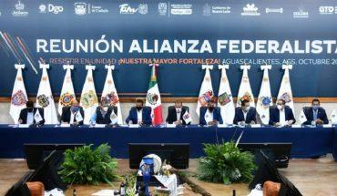 Fije fecha para una reunión, dicen a AMLO gobernadores de Alianza Federalista