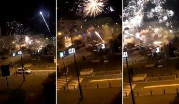 Francia: 40 personas atacaron una comisaría usando fuegos artificiales