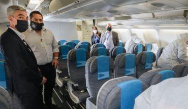 Los aviones de Aerolíneas Argentinas serán desinfectados por una nueva tecnología