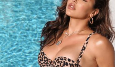 Modela Ana Cheri ajustados leggins de leopardo en redes