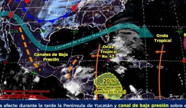 Onda tropical 42 generará fuertes lluvias