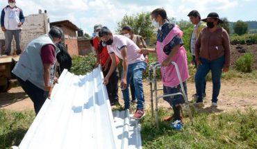 Promueve edil de Morelia mejoramiento de vivienda en Tzinzimacato El Chico
