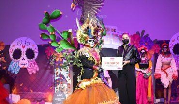 Realiza concurso de Catrinas en el CIE de Los Mochis, Sinaloa
