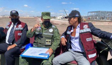 Roberto Palazuelos recorre Santa Lucía con elementos del Ejército; dice que le interesa Tulum y sus negocios