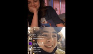 Selena Gómez y Timothée Chalamet hicieron reír a sus fans en un vivo de Instagram