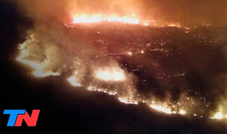 Más incendios en Córdoba: 40 dotaciones de 27 cuarteles de bomberos trabajan en el lugar | FENÓMENOS