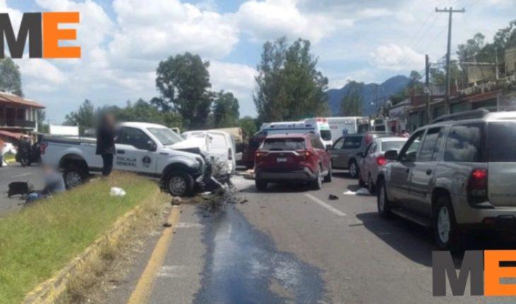 2 people die after multiple vehicular shock in Pátzcuaro, Michoacán