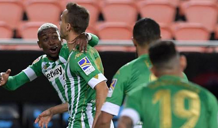 Betis de Pellegrini was left as the League's momentary leader after victory against Valencia