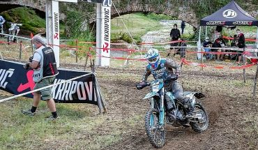 Chilean Ruy Barbosa has serious accident but finished the race in the 'Campionato Assoluti d'Italia'