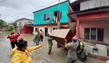 It is issued alert for heavy rains in Chiapas, Veracruz and Tabasco