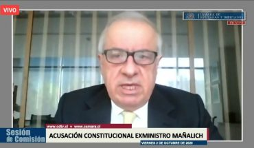 """Mañalich defended himself in Congress on constitutional indictment against him: """"I recognize that we have and have made mistakes"""""""
