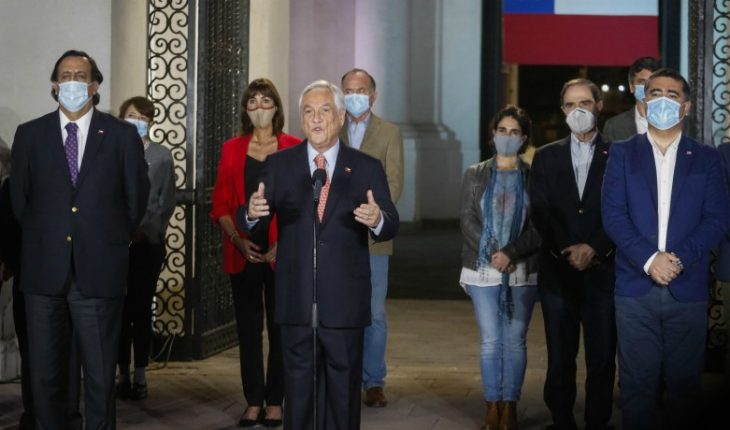 """President Piñera acknowledged the triumph of The Apruebo and said: """"This is a triumph of all Chileans"""""""