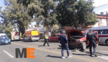 Adulto mayor resulta herido tras choque entre 2 vehículos en la Av. Ventura Puente de Morelia