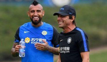 """Antonio Conte: """"Estaría contento con Vidal incluso si lo pusiera en el arco"""""""