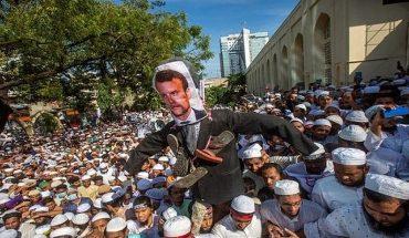 Continúan las protestas contra Francia en el mundo islámico