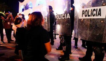 Dispersan una marcha feminista a los tiros en la ciudad de Cancún