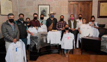 Entrega edil de Morelia mobiliario a las Jefaturas de Tenencia
