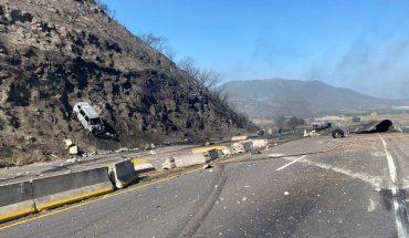 Explosión de pipa de gas en autopista Tepic-Guadalajara deja 14 muertos