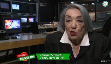 Falleció Martha Tedeschi, pionera e histórica productora de la TV argentina