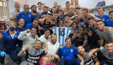 Gimnasia le dedicó un triunfo a Maradona: el desahogo de los jugadores en el vestuario