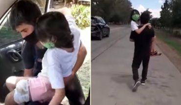 Habló el hombre que debió entrar a Santiago del Estero caminando con su hija enferma en brazos