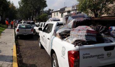 Parte caravana de cobijas del DIF Morelia a colonias y comunidades
