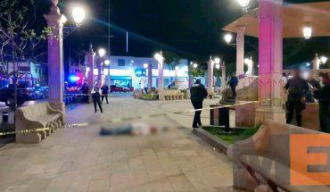 Quitan la vida a hombre a balazos en la plaza de Santa María de Guido
