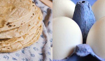 Suben precio del huevo y tortillas en México