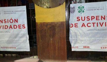 Suspenden 9 bares de CDMX por incumplir con sana distancia ante COVID