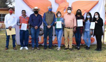 Toma protesta Comisión Operativa Municipal de MC en Tlalpujahua