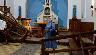 Una agrupación mapuche rompió una capilla y atacó al sacerdote