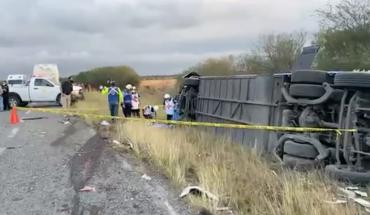 Vuelca autobús de Frena en Tamaulipas, hay dos muertos