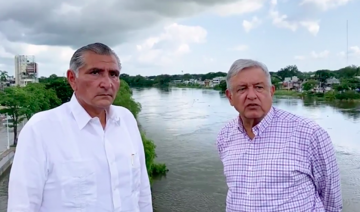 AMLO says there are resources for rain victims in Tabasco