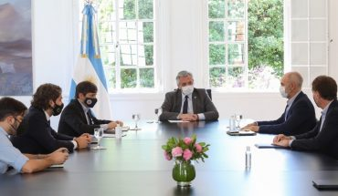 """Alberto Fernández welcomed Kicillof and Larreta: """"Unity and dialogue have been the way"""""""