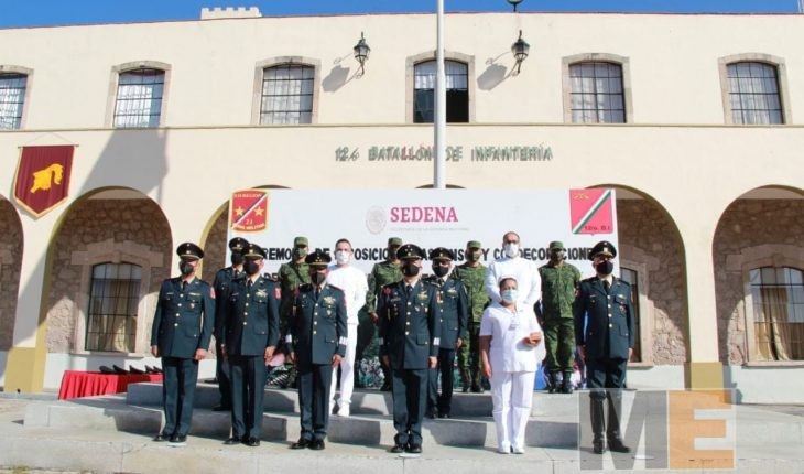 Army decorates elements that assist in ISSSTE