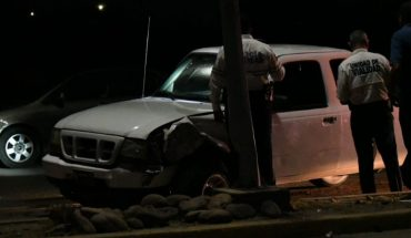 Crash of a van ends in overturning in Los Mochis