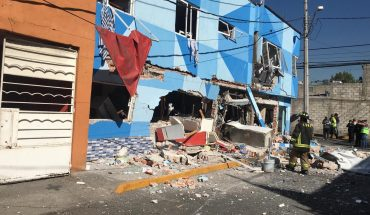 It operates pizzeria in Azcapotzalco by gas accumulation; there are two injured