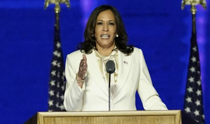 """Kamala Harris: """"While I may be the first woman in this position, I won't be the last"""""""