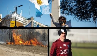 March against the Government in different areas of the country, fires continue, Santos Borré has coronavirus and much more...