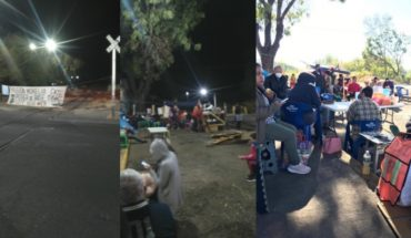 More than 50 demands for blockade on train tracks and the parists do not give in in Michoacán