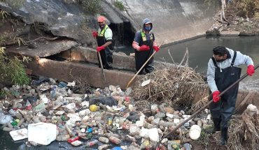 Municipal Government removes more than 2 tons of garbage in the Chiquito River